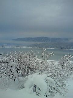 白銀の鏡湖